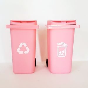 Barbie Fashion Doll Pink Trash & Recycle Bin